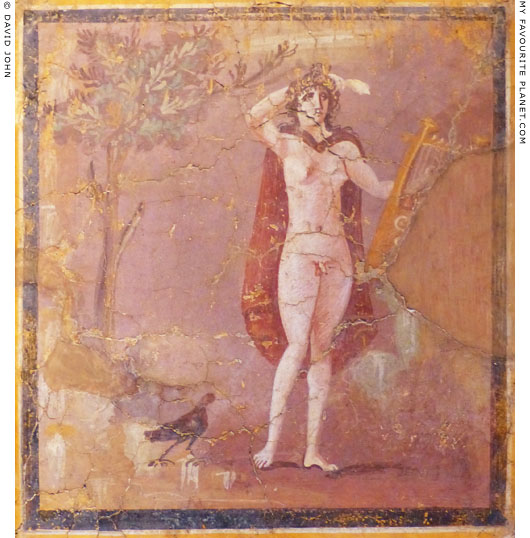 Fresco painting of Hermaphroditus at My Favourite Planet