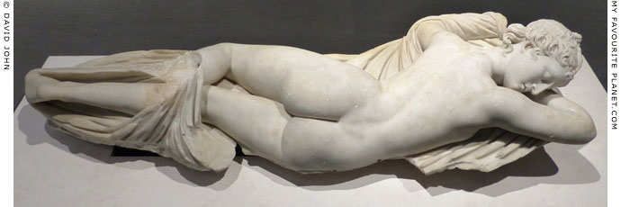 Statue of sleeping Hermaphroditus, Palazzo Massimo alle Terme, Rome at My Favourite Planet