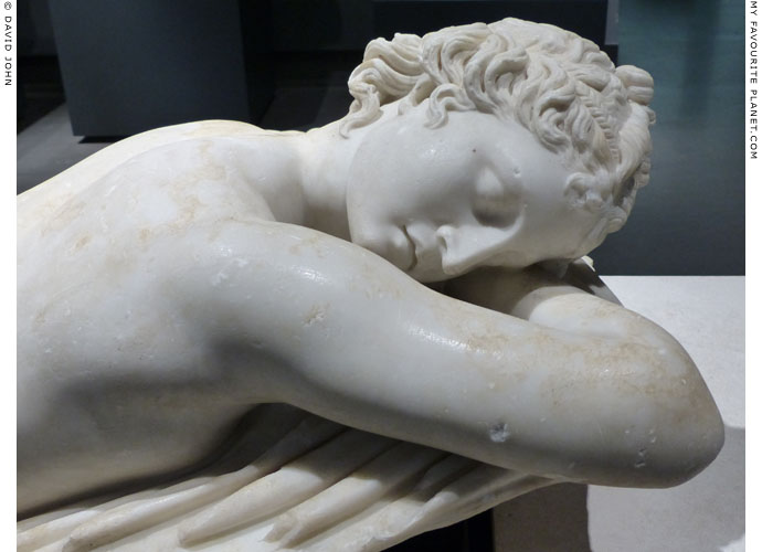 Detail of the Terme sleeping Hermaphroditus statue at My Favourite Planet