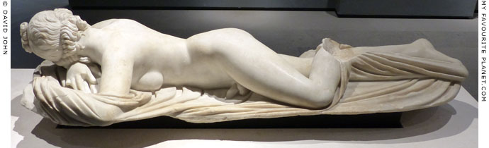 The Terme sleeping Hermaphroditus statue from the front at My Favourite Planet