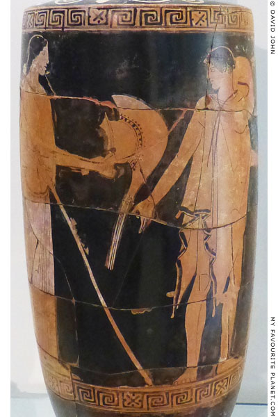 Hermes and Athena on an Attic red-figure lekythos from Akragas, Sicily at My Favourite Planet