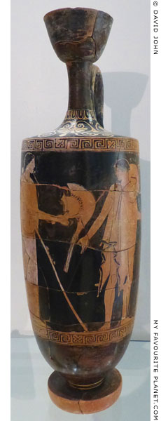 An Attic red-figure lekythos attributed to the Providence Painter, Agrigento, Sicily at My Favourite Planet