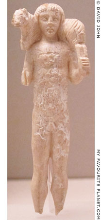Ceramic figurine of Hermes carrying a ram from Amphipolis at My Favourite Planet