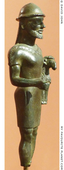 Bronze statuette of Hermes Kriophoros at My Favourite Planet