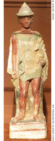 Terracotta statuette of a youth holding a ram at My Favourite Planet
