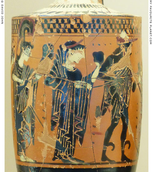 The Judgement of Paris on a lekythos from Kerameikos at My Favourite Planet