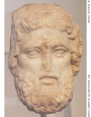 Marble head of a bearded Hermes from Daphni, Attica at My Favourite Planet