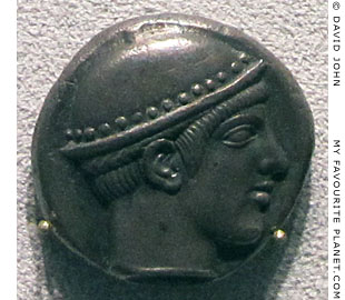 Head of Hermes on a tetradrachm coin from Ainos, Thrace at My Favourite Planet