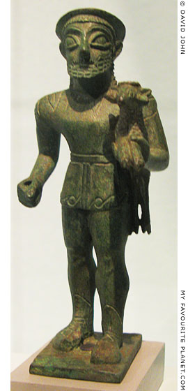 Bronze statuette of Hermes Kriophoros, Pergamon Museum, Berlin at My Favourite Planet