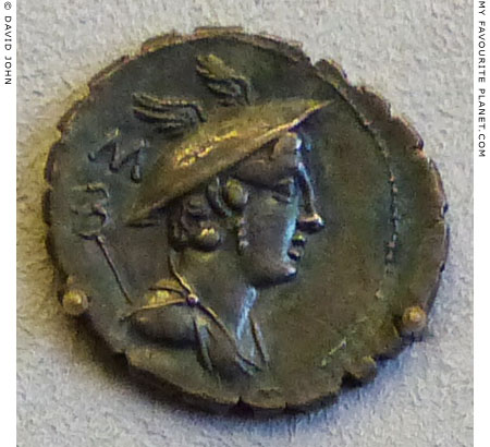 A Roman denarius showing the head of Mercury at My Favourite Planet