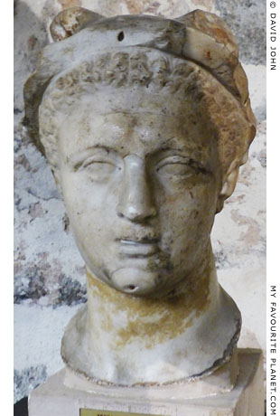 Marble head of Hermes, Catania, Sicily at My Favourite Planet