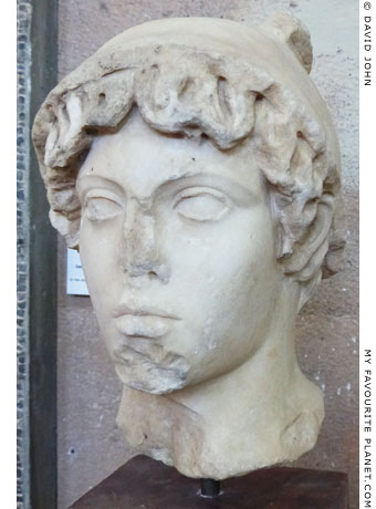 Marble head of Hermes or Perseus from Corinth at My Favourite Planet