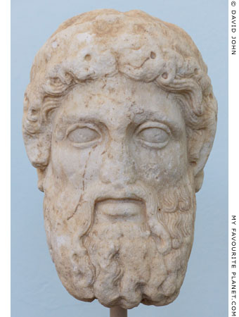 Marble Archaistic head of Hermes in Delos at My Favourite Planet