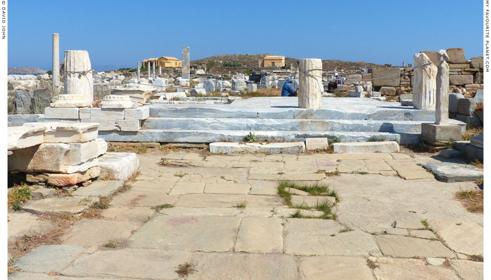 The propylon of the Sanctuary of Apollo, Delos at My Favourite Planet