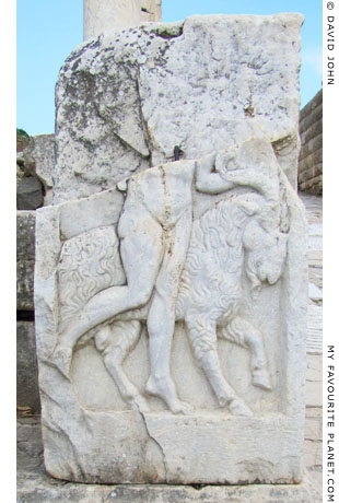 The relief of Hermes with a goat on the north pedestal on the Clivus Sacer, Ephesus My Favourite Planet