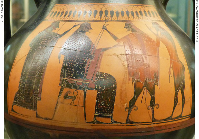 An Attic black-figure amphora depicting Hermes and Zeus at My Favourite Planet