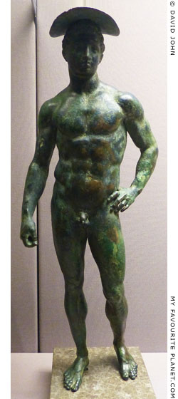 A bronze statuette of Hermes from Saponara at My Favourite Planet