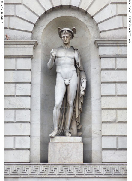 A statue of Mercury on the Porta Venezia, Milan at My Favourite Planet
