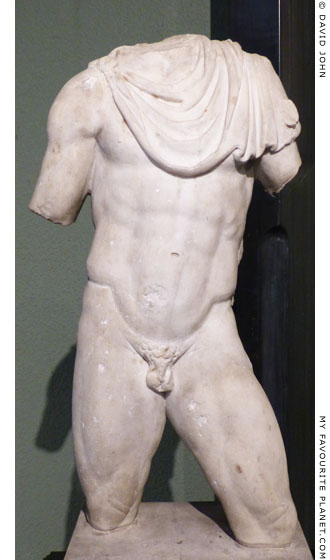Marble torso of a statuette of Hermes in Milan at My Favourite Planet