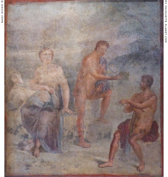Fresco depicting Io, Hermes and Argos from Herculaneum at My Favourite Planet