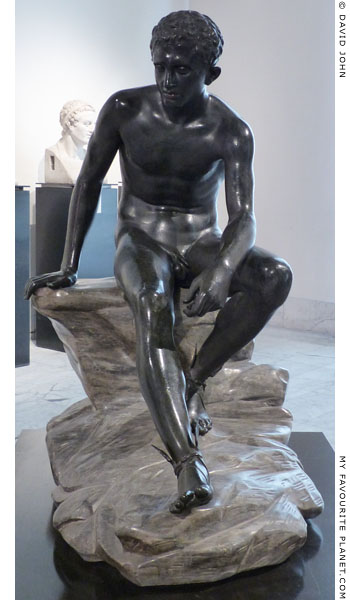 Bronze statue of Hermes resting, form Herculaneum at My Favourite Planet