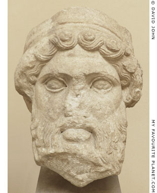 Head of a herm of Hermes from Ostia at My Favourite Planet