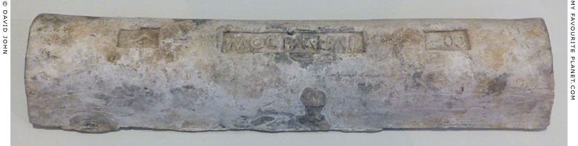A Roman lead ingot stamped with a caduceus at My Favourite Planet