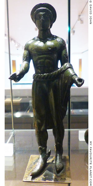 A bronze statuette of the Etruscan god Turms at My Favourite Planet