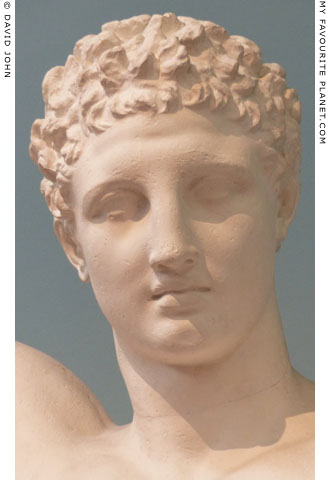 Head of the statues of Hermes from Olympia at My Favourite Planet