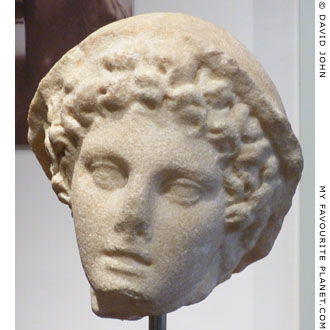 Small marble head of Hermes, Barracco Museum, Rome at My Favourite Planet