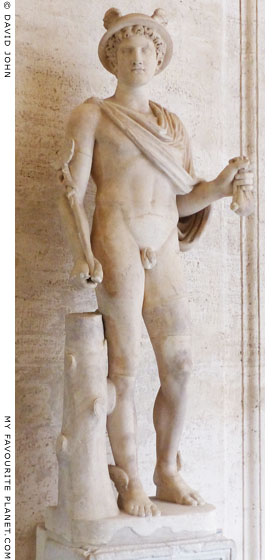 Marble statue of Hermes in the Capitoline Museums, Rome at My Favourite Planet