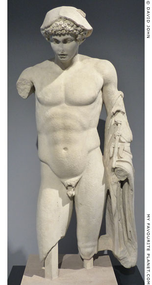 Marble statue of the Hermes Ludovisi type, Palazzo Massimo alle Terme, Rome at My Favourite Planet