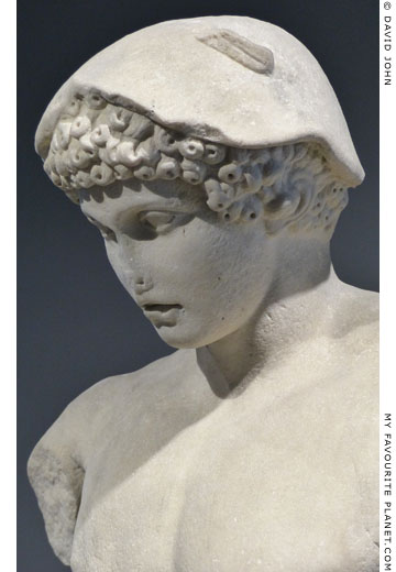 Detail of the Hermes Ludovisi type statue, Palazzo Massimo alle Terme at My Favourite Planet