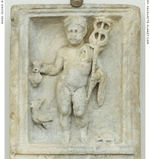 Roman relief of a child as Hermes at My Favourite Planet
