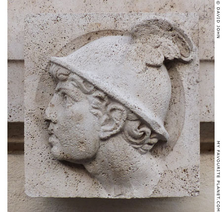 A relief of Mercury on a modern building in Rome at My Favourite Planet