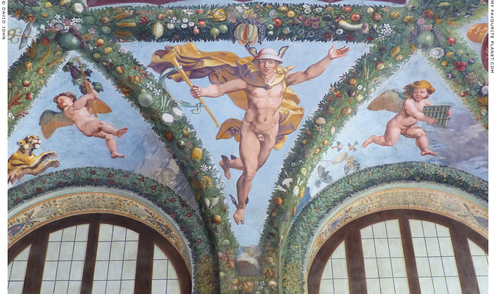Fresco depicting Mercury by Raphael, Villa Farnesina, Rome at My Favourite Planet