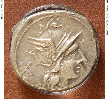 The head of Mercury on a denarius of the Roman Republic at My Favourite Planet