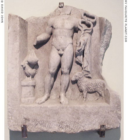 Marble votive relief of Hermes from Odessos, Bulgaria at My Favourite Planet