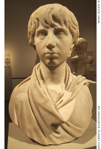 Marble bust of Polydeukes, Altes Museum, Berlin at My Favourite Planet
