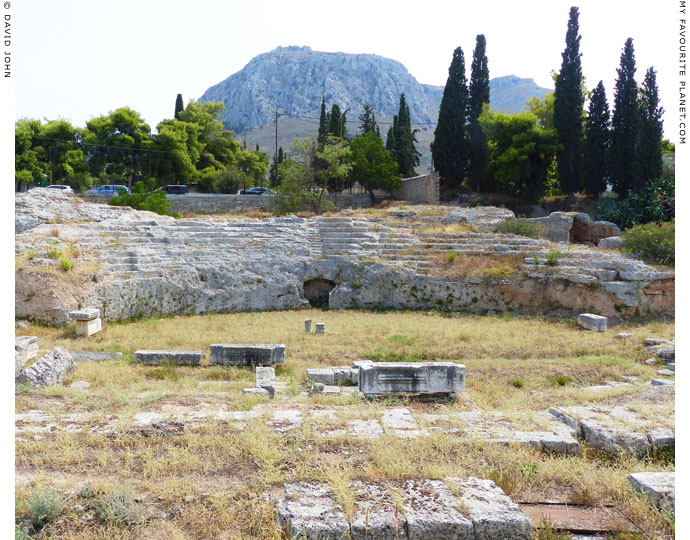 The remains of the Roman Odeion of Ancient Corinth at My Favourite Planet
