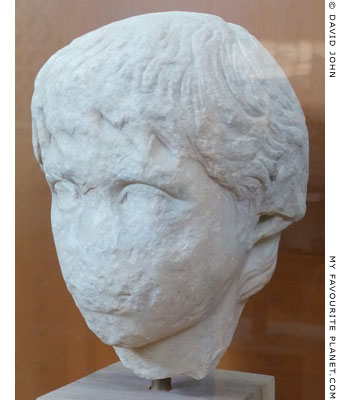 Marble head of Polydeukes from Corinth at My Favourite Planet