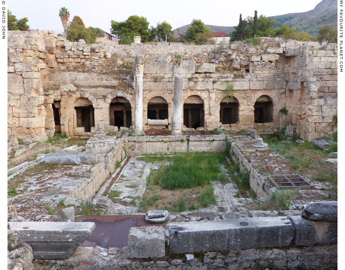 The remains of the Peirene Fountain in the Forum of Ancient Corinth at My Favourite Planet