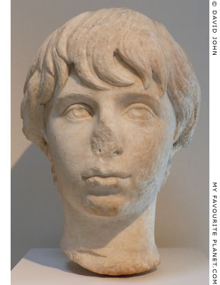Marble head of Polydeukes from Isthmia at My Favourite Planet