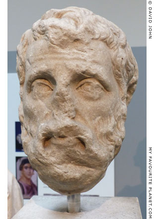 Marble head of Herodes Atticus, British Museum at My Favourite Planet