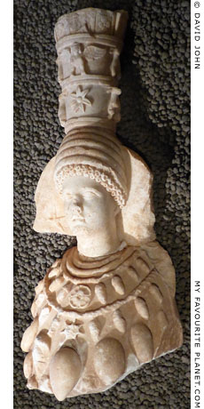 Statuette of Artemis Ephesia from the Villa of Herodes Atticus in Loukou, Arkadia at My Favourite Planet