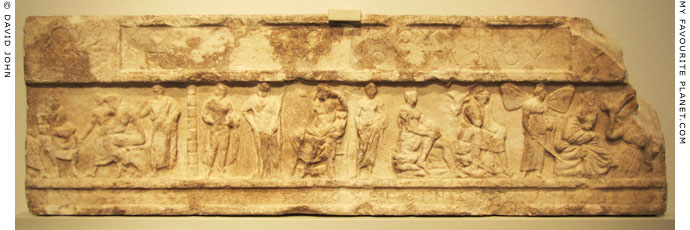 Marble relief frieze from the funerary monument for Hieronymus of Tlos at My Favourite Planet