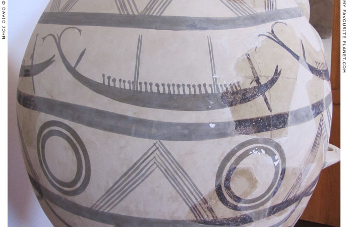 A depiction of a ship on a Middle Bronze Age ceramic storage vessel at My Favourite Planet