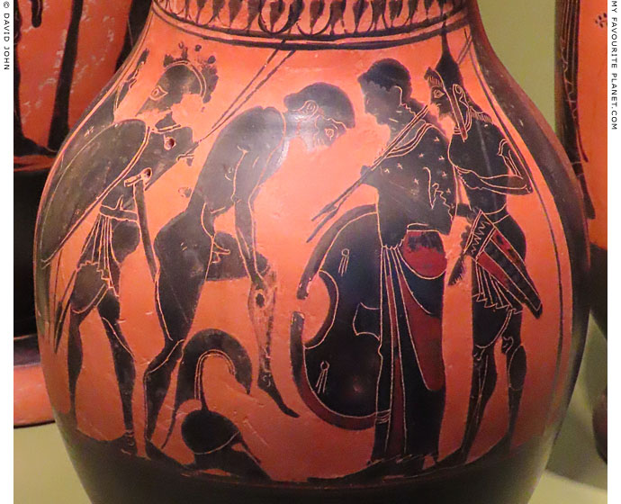 Achilles receiving his armour from his mother Thetis at My Favourite Planet