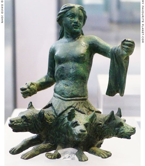 Bronze figurine of Skylla from Thessaly at My Favourite Planet