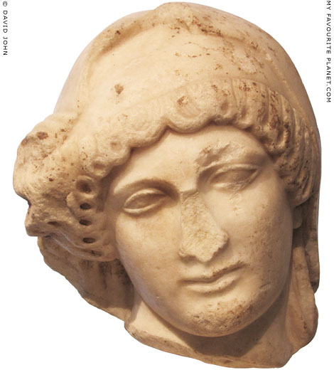 Marble head of mourning Penelope at My Favourite Planet